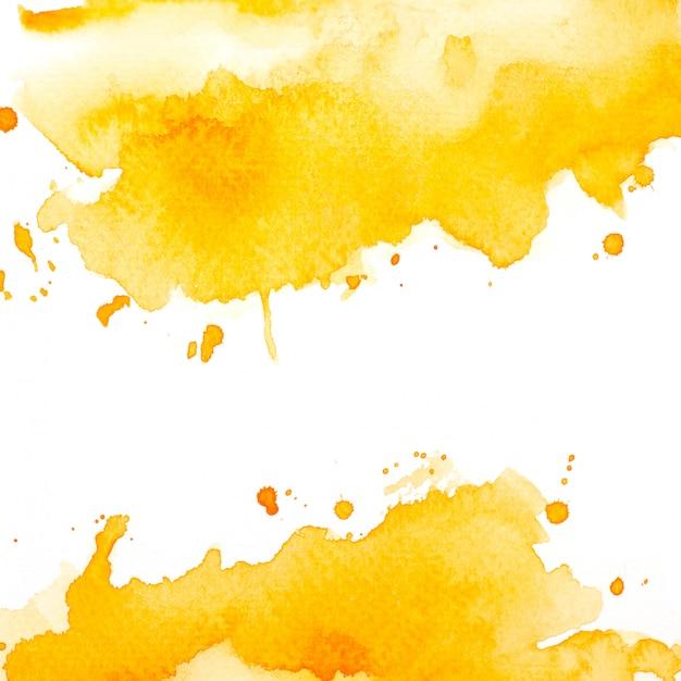 Splash yellow watercolor. Premium Photo