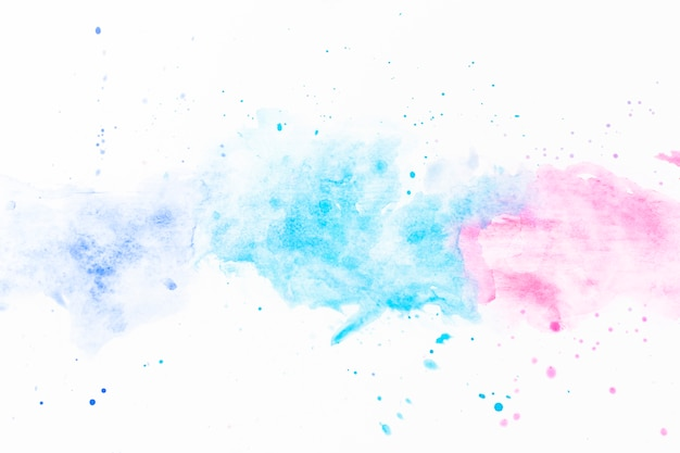 Splashes of turquoise and fuchsia watercolor Free Photo