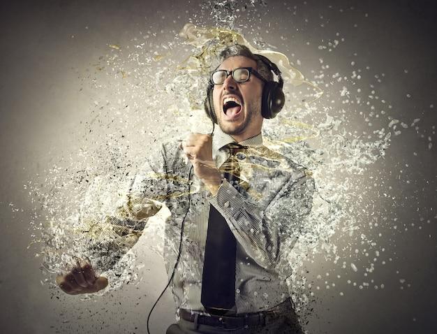 Splashing effect and dance Premium Photo