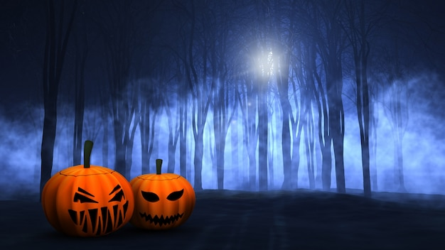 spooky halloween scene free photo - Spooky Halloween Pictures Free