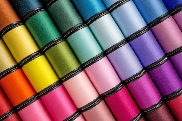 Spool of sewing threads Premium Photo
