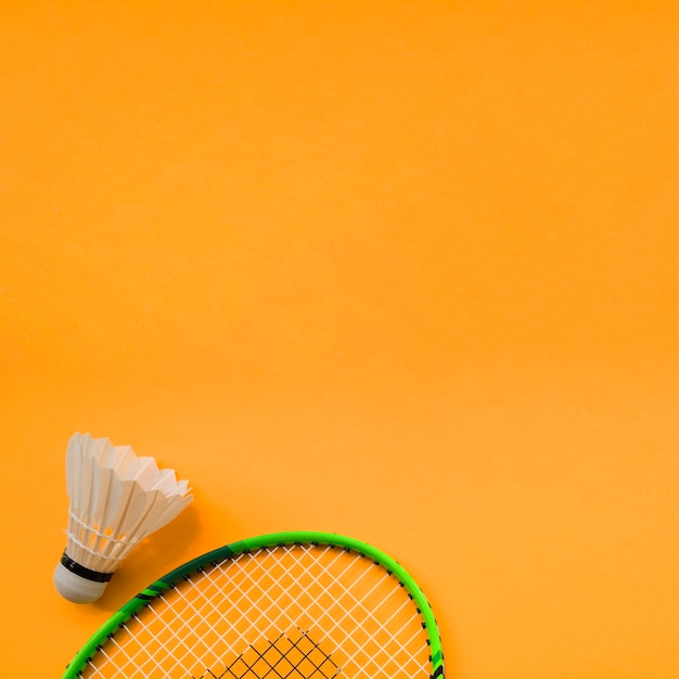 Sport composition with badminton elements Free Photo
