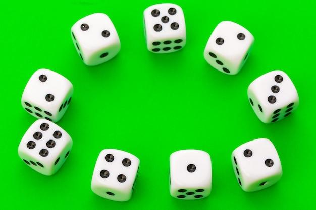 Sport dice on green Premium Photo