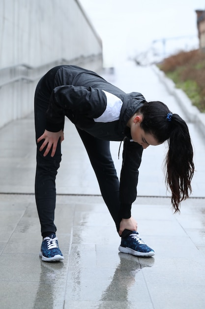 スポーツ女性の屋外 無料写真