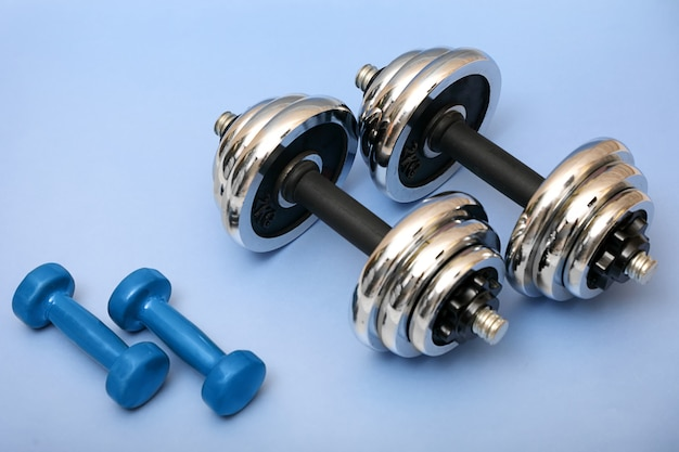 Sports dumbbells . Premium Photo