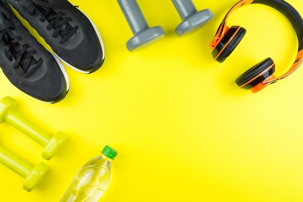 Sports equipment for fitness Premium Photo