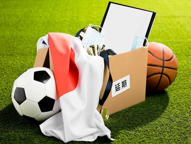 Sports event objects arrangement Free Photo