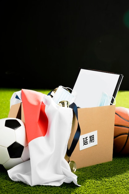 Sports event objects composition Free Photo