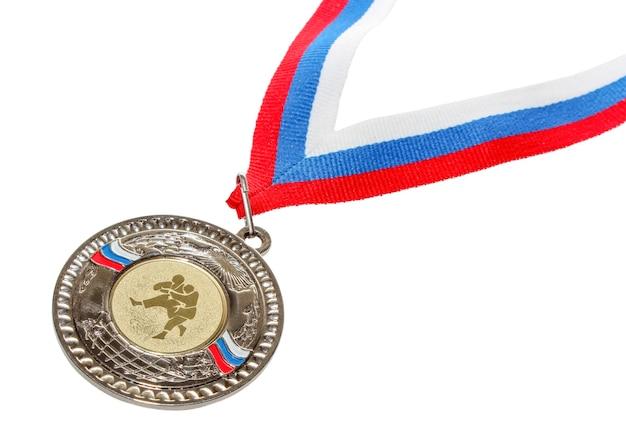 Спортивная медаль за выдающиеся достижения в силовых видах искусства. Premium Фотографии