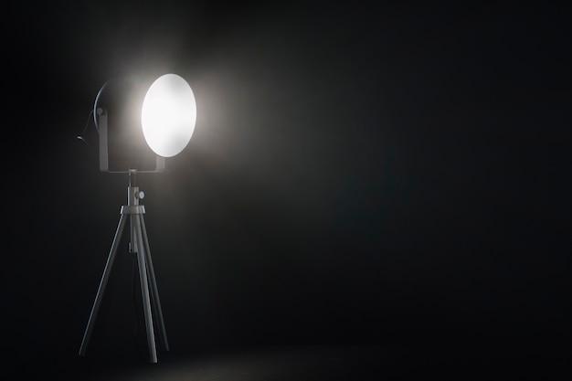 Spotlight in dark room Free Photo