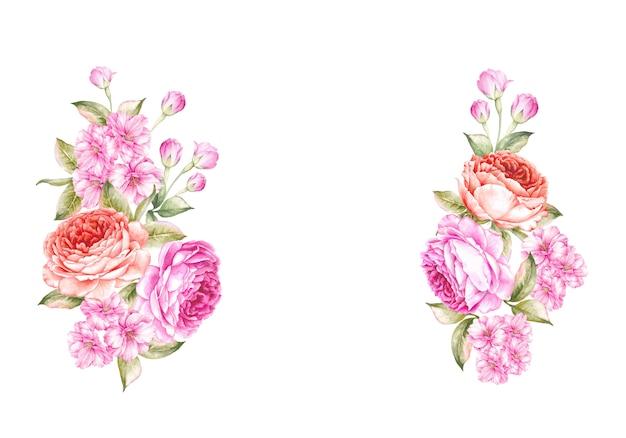 The spring flowers bouquet. Premium Photo