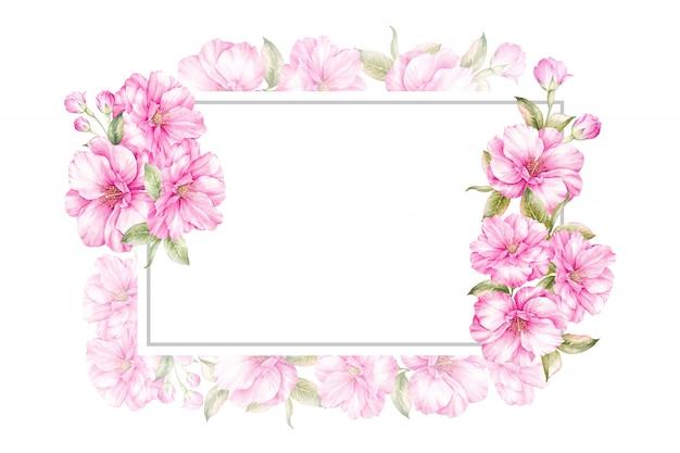 Spring frame background for wedding Premium Photo