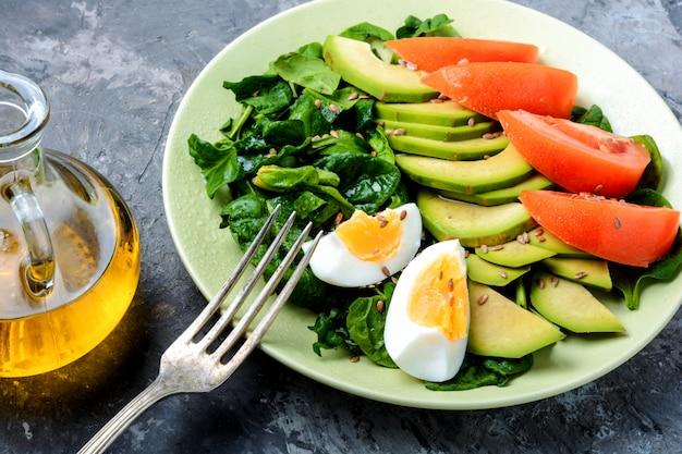 Spring vegetable salad Premium Photo