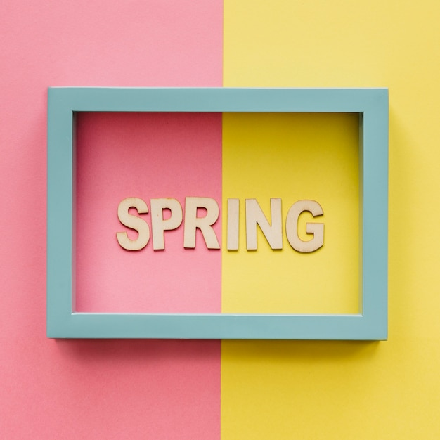 Spring word in frame Photo | Free Download