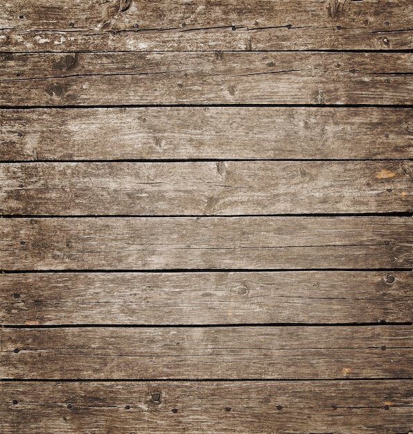 Square vintage wooden panel with horizontal planks and gaps Premium Photo