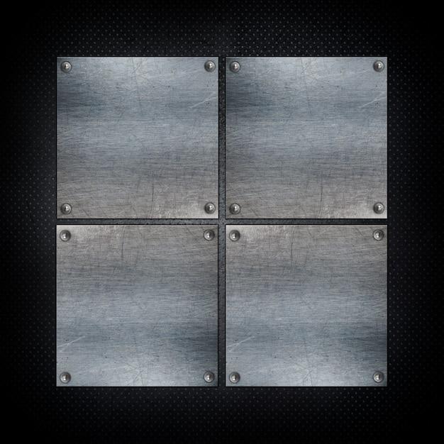 Squared metallic shapes background Free Photo