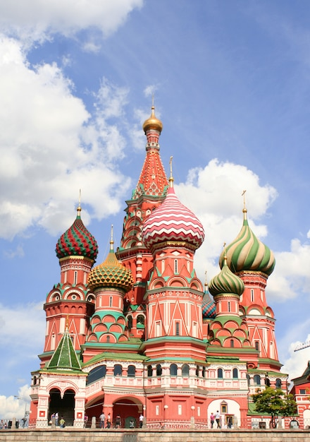 St basils cathedral on red square in moscow Premium Photo