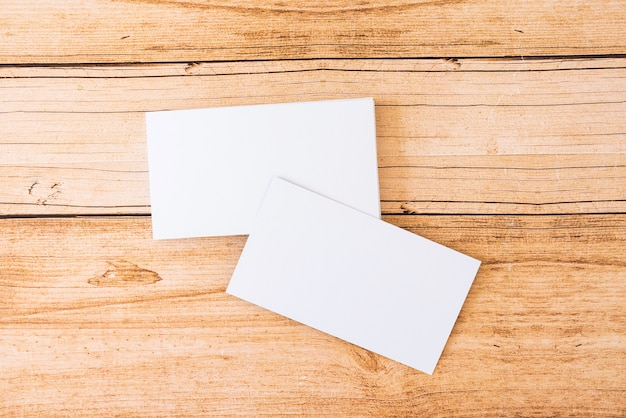 Stack of blank business card Free Photo