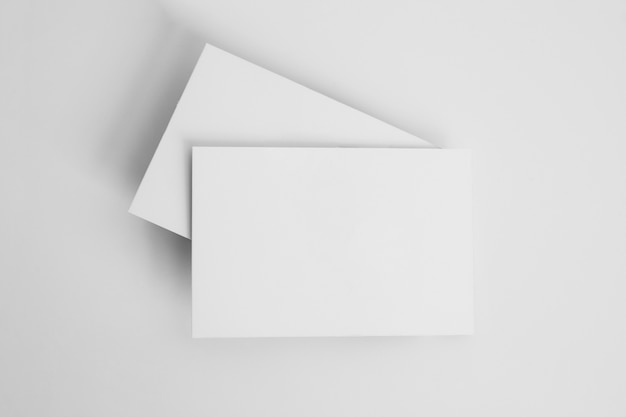 Stack of blank business cards Premium Photo
