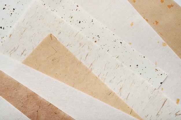 Stack of different handmade paper Premium Photo