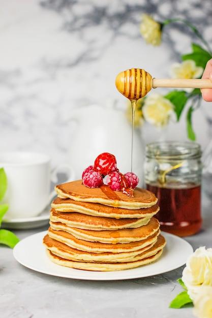 Stack of pancakes Free Photo