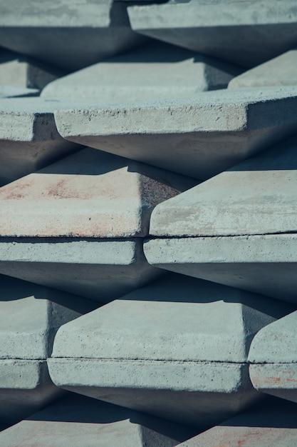 積み上げ建設石のテクスチャ背景 Premium写真