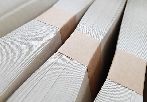 Stacks of envelope for advertising. Premium Photo