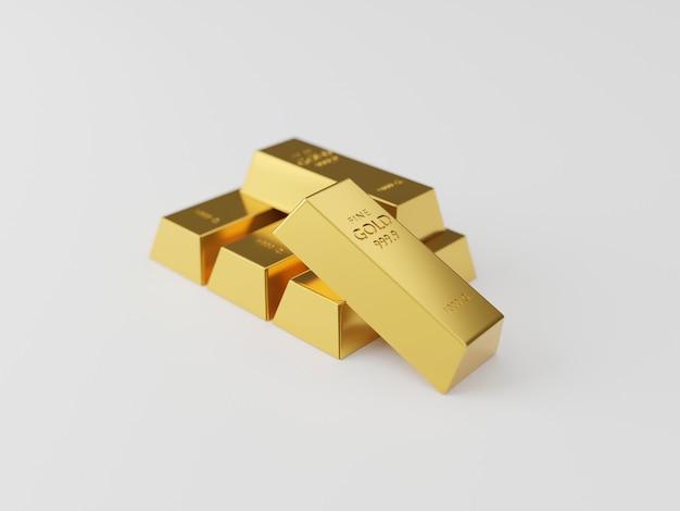 Стеки золотых слитков. концепция богатства Premium Фотографии