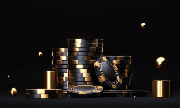 Stacks of poker chips Premium Photo