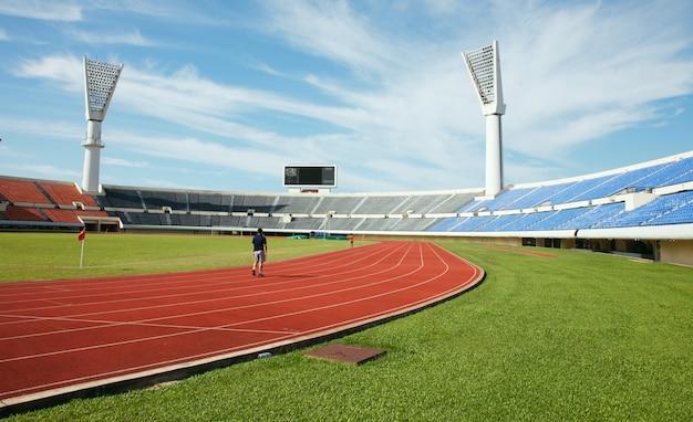 Стадион один бегун Бесплатные Фотографии