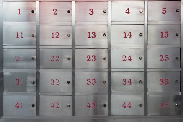 Stainless steel storage cabinet locker Premium Photo