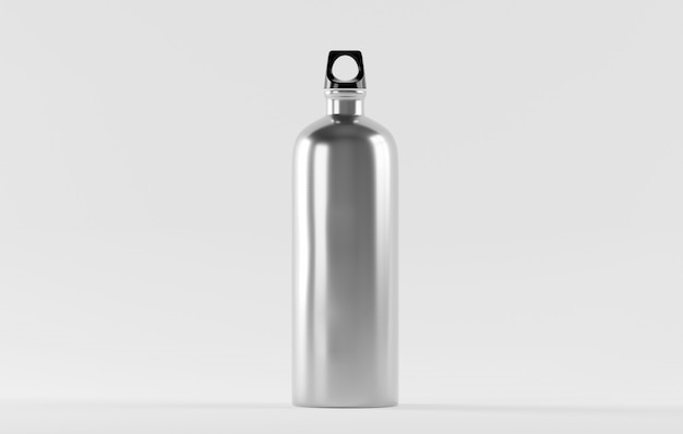 Stainless steel water bottle isolated on white Premium Photo