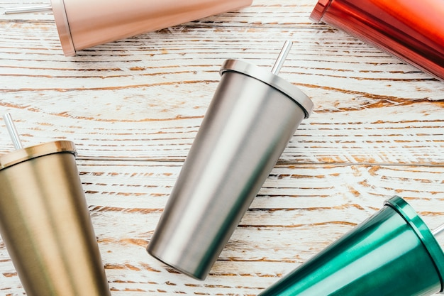 Stainless and tumbler cup Free Photo