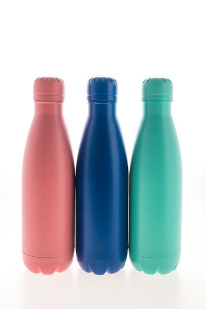 Stainless vacuum flask and bottle Free Photo