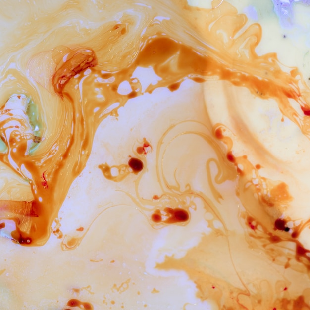 Stains of coffee in oil flat lay Free Photo
