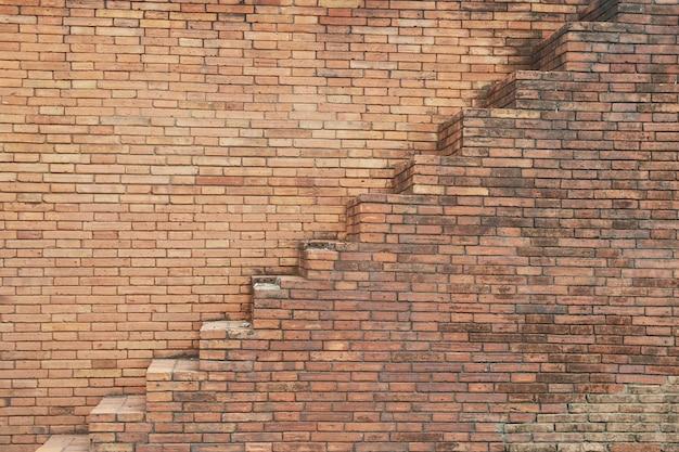 Stair on block wall Premium Photo