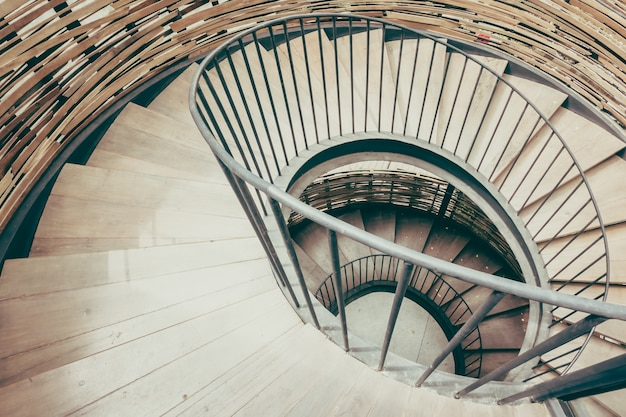 Staircase brittany pattern interior spiral Free Photo