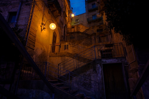 Staircase called scala musumeci in leonforte Premium Photo