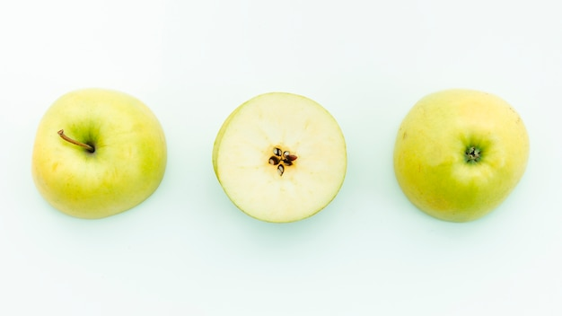 Stalk calyx seeds and pulp of apple Free Photo