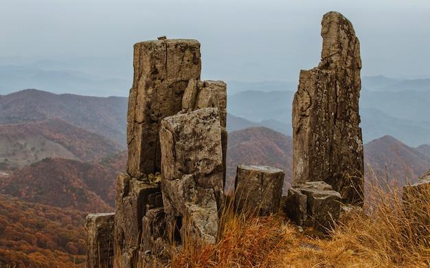 Standing rock mudeungsan national park, gwangju, south korea. Premium Photo