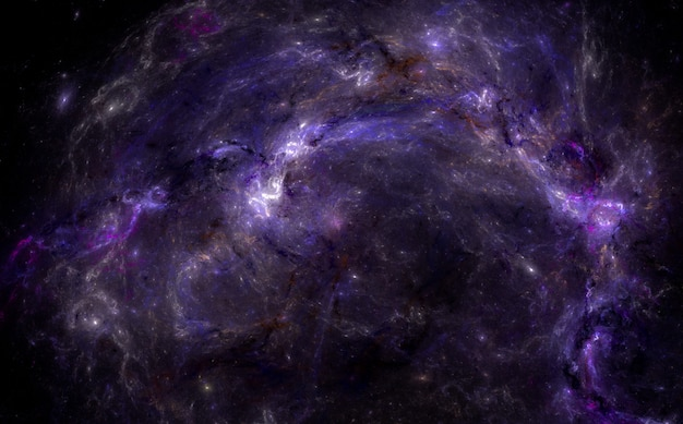 Star field background . magic purple night sky. Premium Photo
