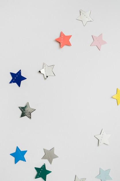 Star shaped confetti Free Photo