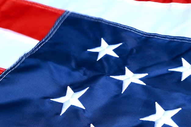 Star and stripes, flag of united states of america. symbol of freedom and democracy. Premium Photo