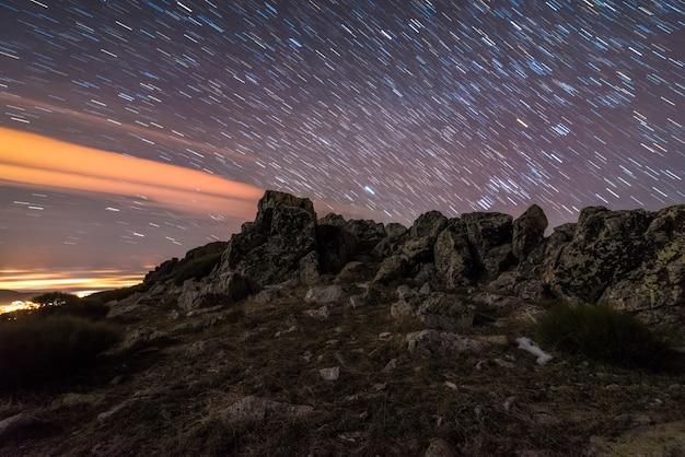 Star trail Premium Photo
