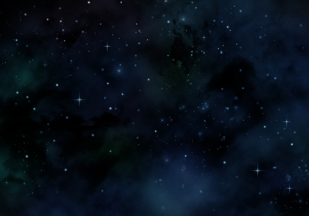 Starry night design Free Photo