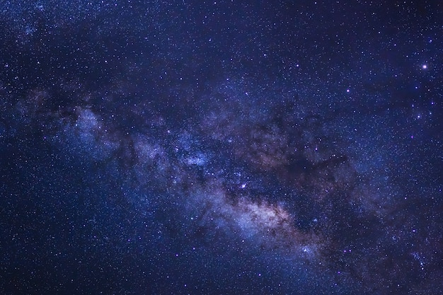 Starry night sky and milky way galaxy with stars and space dust in the universe Premium Photo