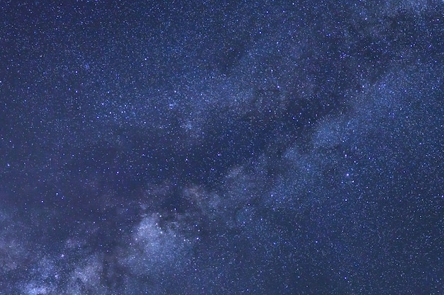 Starry night sky and milky way galaxy Premium Photo