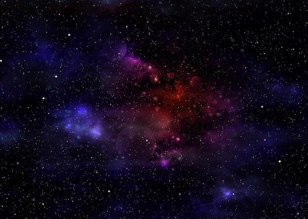 Starry space nebula Premium Photo
