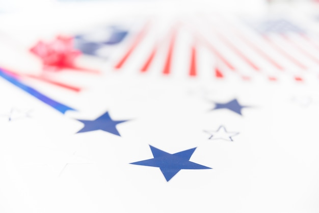 Stars and stripes on white background Free Photo