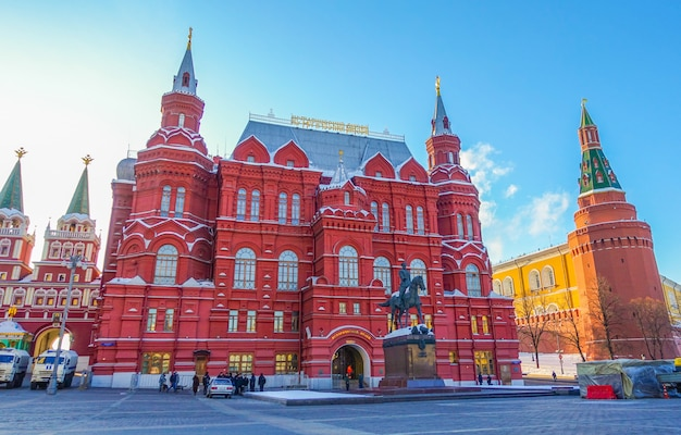 State historical museum in moscow, russia. Premium Photo